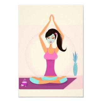 Invitation for yoga Teacher : pink
