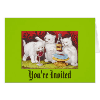 Invitation - Friendly Get Together Greeting Card