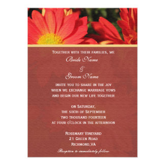 Invitation from bride and groom Daisy flowers Personalized Invite