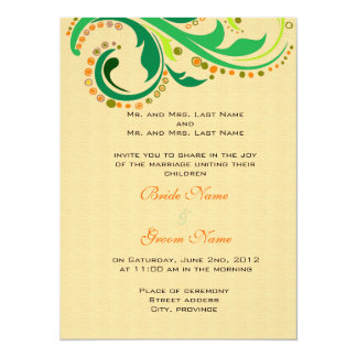 Invitation from bride and groom's parents