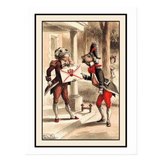 Invitation from Queen: Alice in Wonderland Postcard