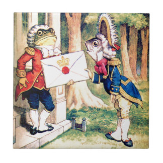 Invitation From the Queen of Hearts in Wonderland Ceramic Tile
