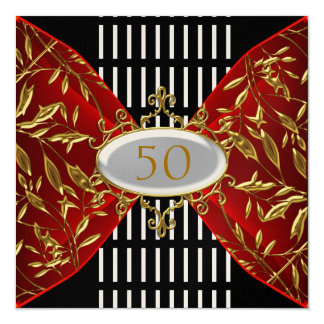 Invitation Gold Black  Birthday Anniversary