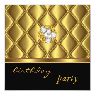 Invitation Gold Tile Trim Elegant On Black Diamond