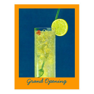 INVITATION GRAND OPENING ~ HAPPY HOUR POSTCARD