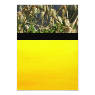 "Invitation - Grass and Gradient Yellow 5"" X 7"" Invitation Card"