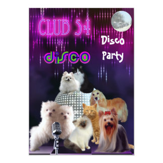 Invitation Ladies Night Disco Party Dogs Cats