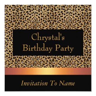 Invitation Leopard Print Invite Birthday Party