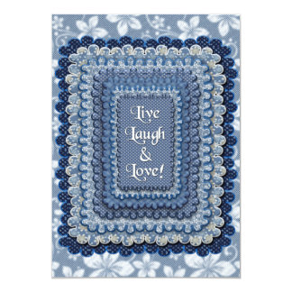 INVITATION - LIVE,LAUGH,LOVE -FOR-SEWING, QUILTERS