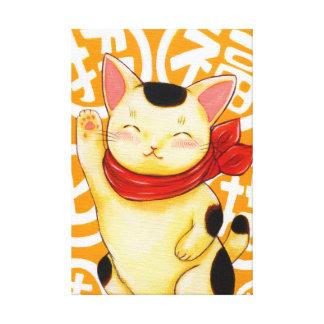 Invitation luck cat canvas print