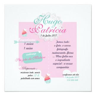 Invitation Marriage Prescribes Cupcake