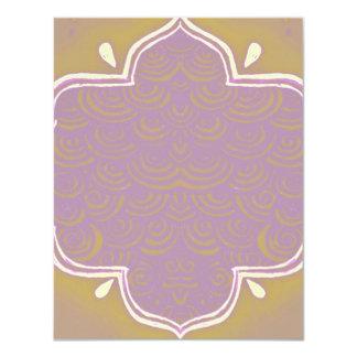 Invitation Mehndi Henna Frame Pink