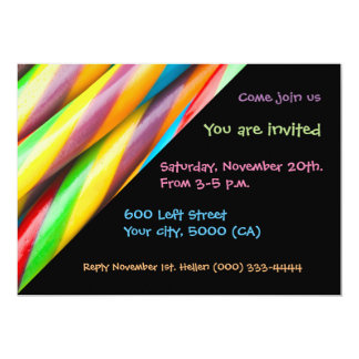 Invitation Modern Multicolored Pattern