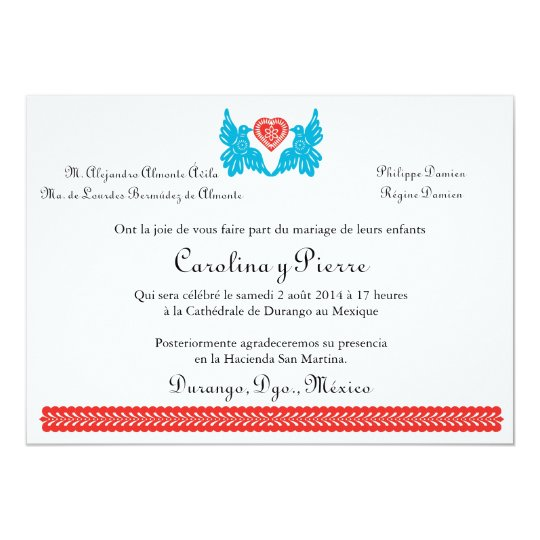 Invitation of the wedding of Paper Pricked of the