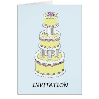 Invitation, pastel coloured cake. greeting card