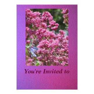 Invitation - Pink Flowers - Multipurpose Card