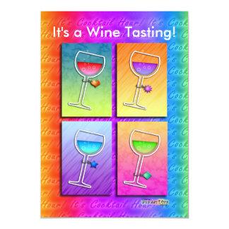 Invitation - Pop Art Wine