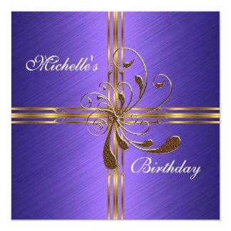 Invitation Purple & Gold Abstract