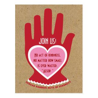 Invitation: Random Act of Kindness Party Postcard
