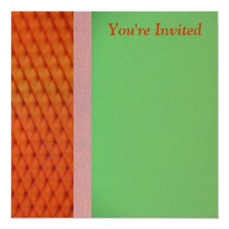 """Invitation - Red-Orange & Green Multipurpose Card 5.25"""" Square Invitation Card"""