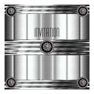 Invitation Ripple Chrome Silver Metal Jewel ab Invitation