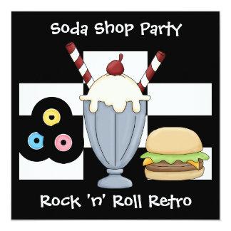 Invitation Rock 'n' Roll Retro Soda Shop Party
