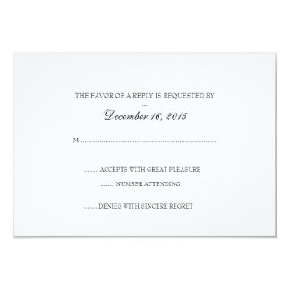Invitation RSVP Card | Basic