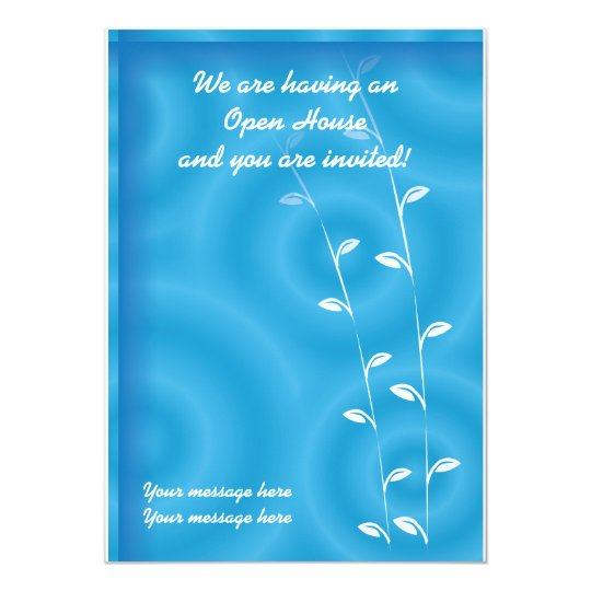 Invitation Template Blue Spa