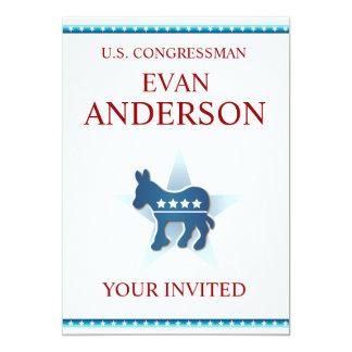 Invitation Template Democrat Donkey