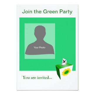 Invitation Template Green Party