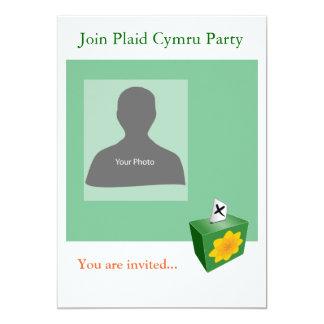 Invitation Template Plaid Cymru Party