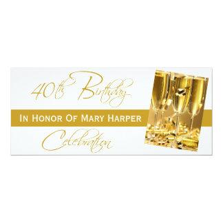 Invitation to a 40th Birthday Party Celebration