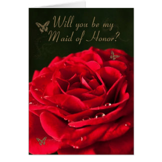 Invitation to be Maid of honor Greeting Card
