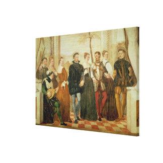 Invitation to the Dance, 1570 Canvas Print