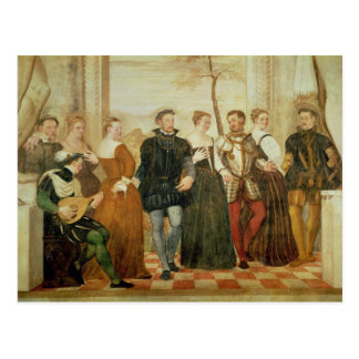 Invitation to the Dance, 1570 Postcard