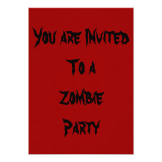 Invitation to Undead Zombie Halloween Party