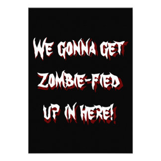 Invitation to Undead Zombie Halloween Party 2