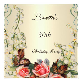 Invitation Victorian Pretty Floral Roses