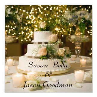 Invitation--Wedding Cake Card