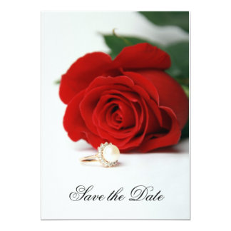 Invitation wedding card, Red Rose, Save the Date