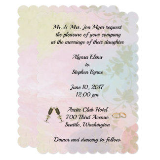 Invitation wedding celebration