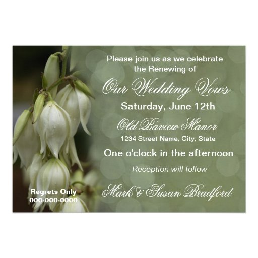 Invitation -Wedding Renewal/Multi Purpose Possible Personalized Announcements
