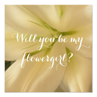 Invitation Will you be flowergirl