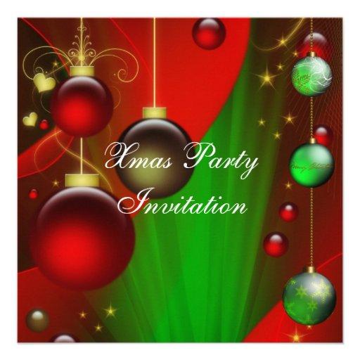 Invitation Xmas Christmas Party Personalized Invite