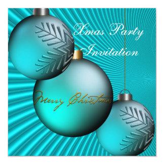 "Invitation Xmas Christmas Party 5.25"" Square Invitation Card"