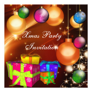 Invitation Xmas Christmas Party Boxes Personalized Announcement