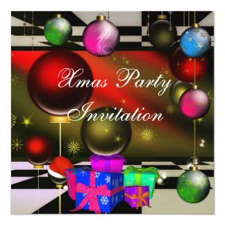 Invitation Xmas Christmas Party Boxes Personalized Invites