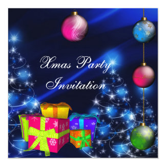 Invitation Xmas Christmas Party Boxes Custom Announcement