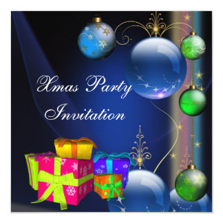 Invitation Xmas Christmas Party Boxes Custom Announcements