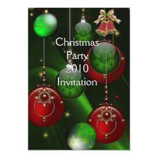 Invitation Xmas Party Christmas Red Green Balls